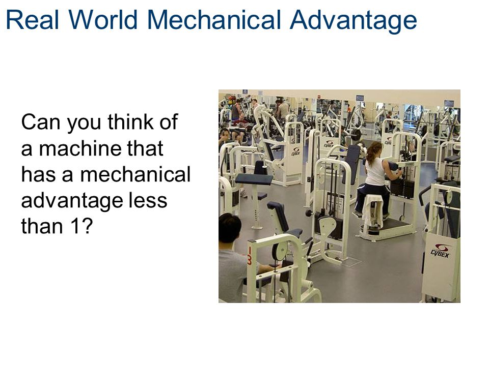 Real World Mechanical Advantage