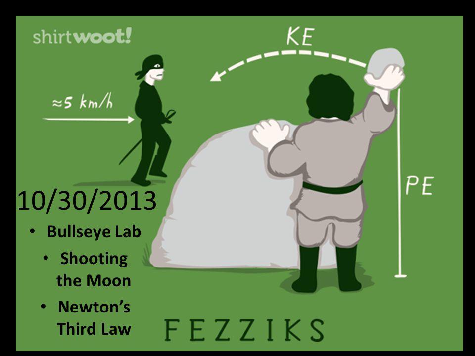 10/30/2013 Bullseye Lab Shooting the Moon Newton's Third Law