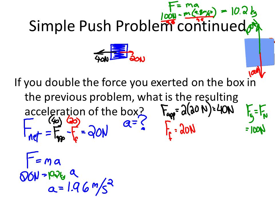 Simple Push Problem continued