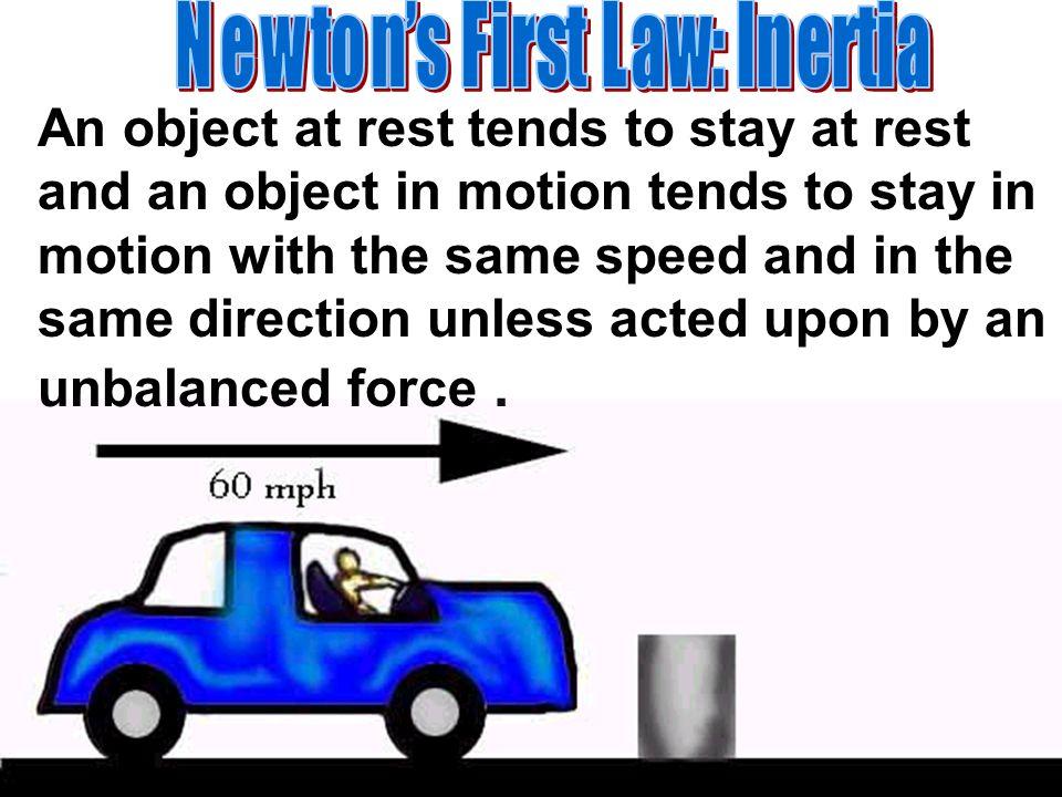Newton's First Law: Inertia
