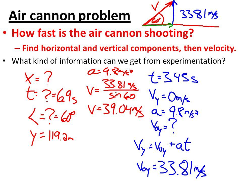 Air cannon problem How fast is the air cannon shooting