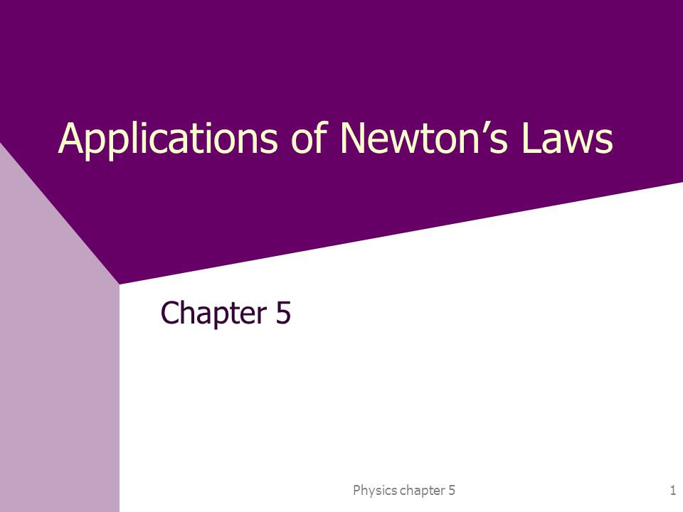 Applications of Newton's Laws