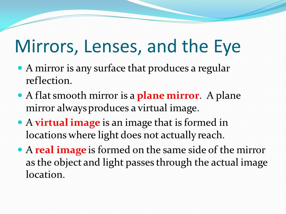 Mirrors, Lenses, and the Eye