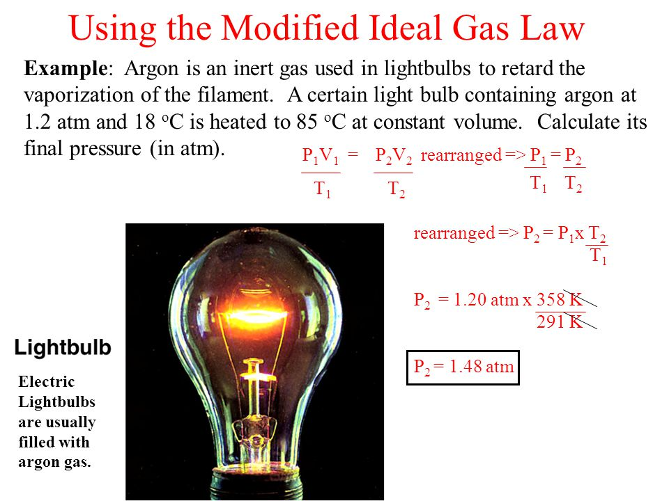 Using the Modified Ideal Gas Law