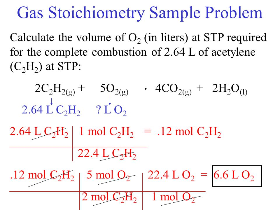 Gas Stoichiometry Sample Problem