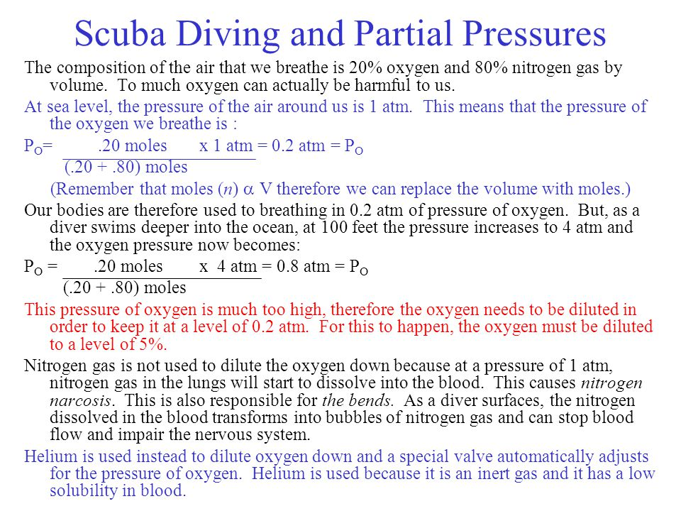 Scuba Diving and Partial Pressures