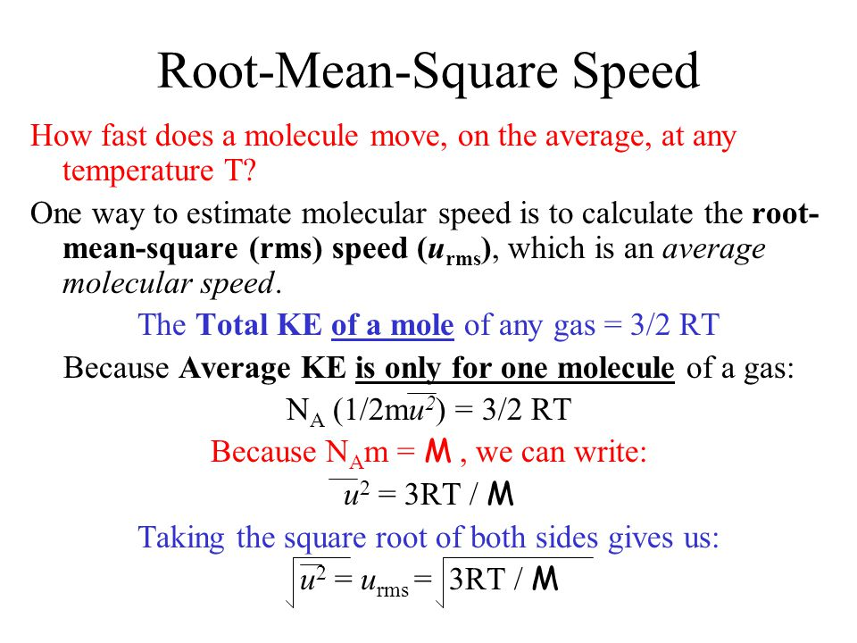 Root-Mean-Square Speed