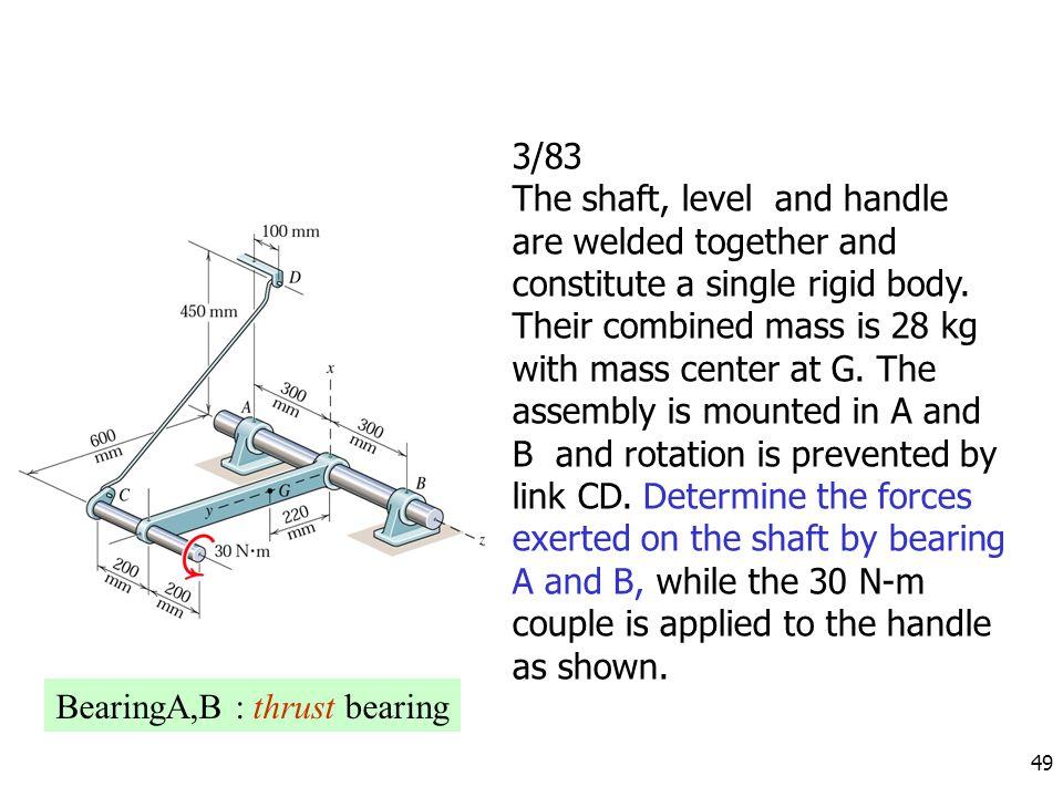 BearingA,B : thrust bearing