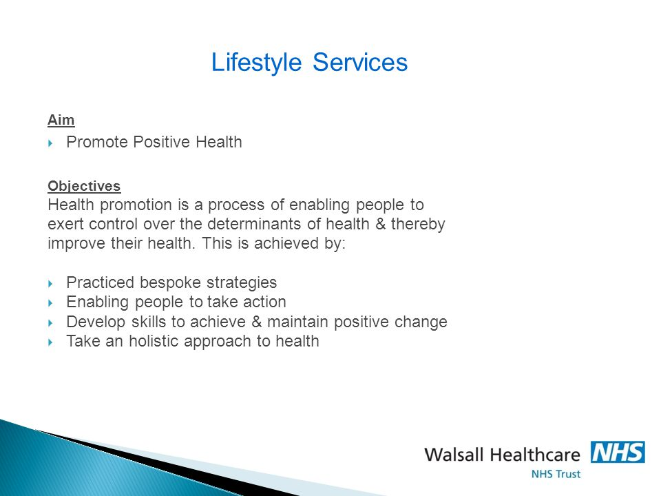 Lifestyle Services Promote Positive Health
