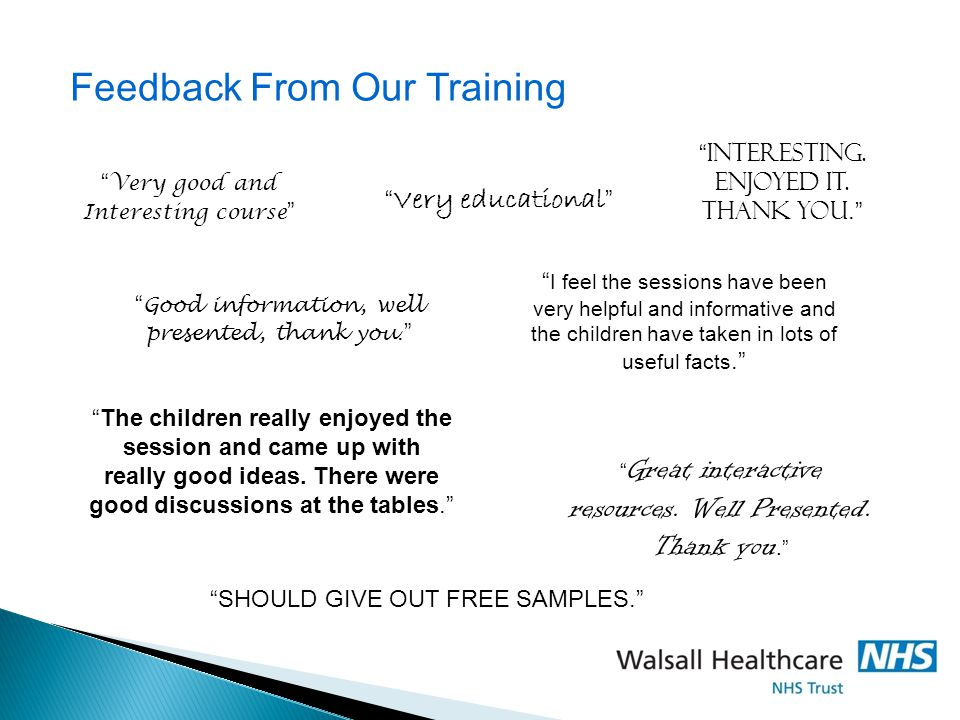 Feedback From Our Training