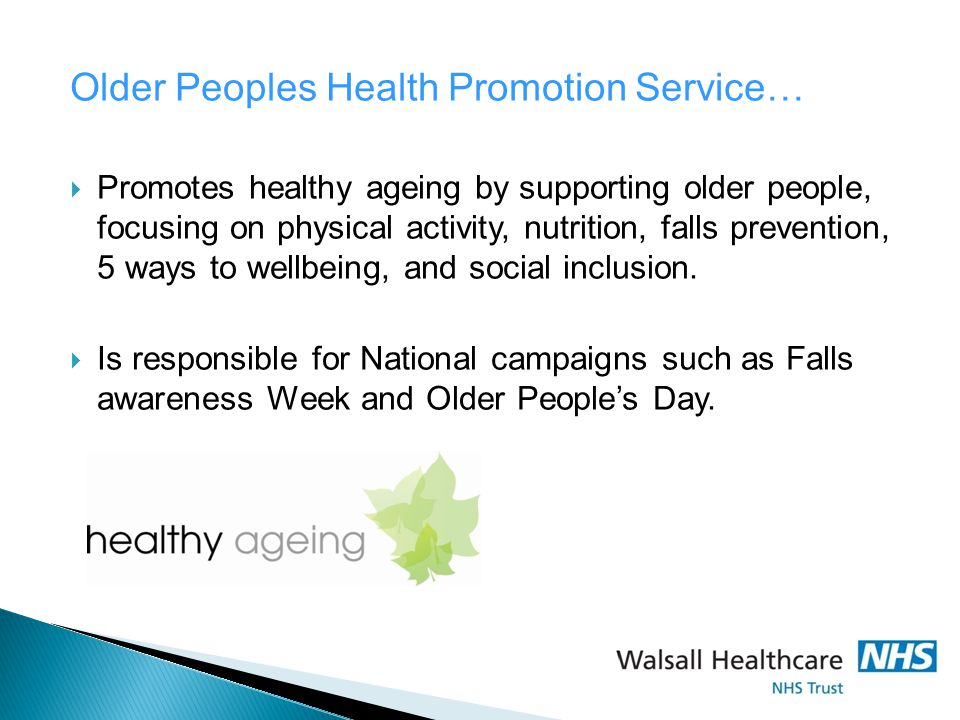 Older Peoples Health Promotion Service…