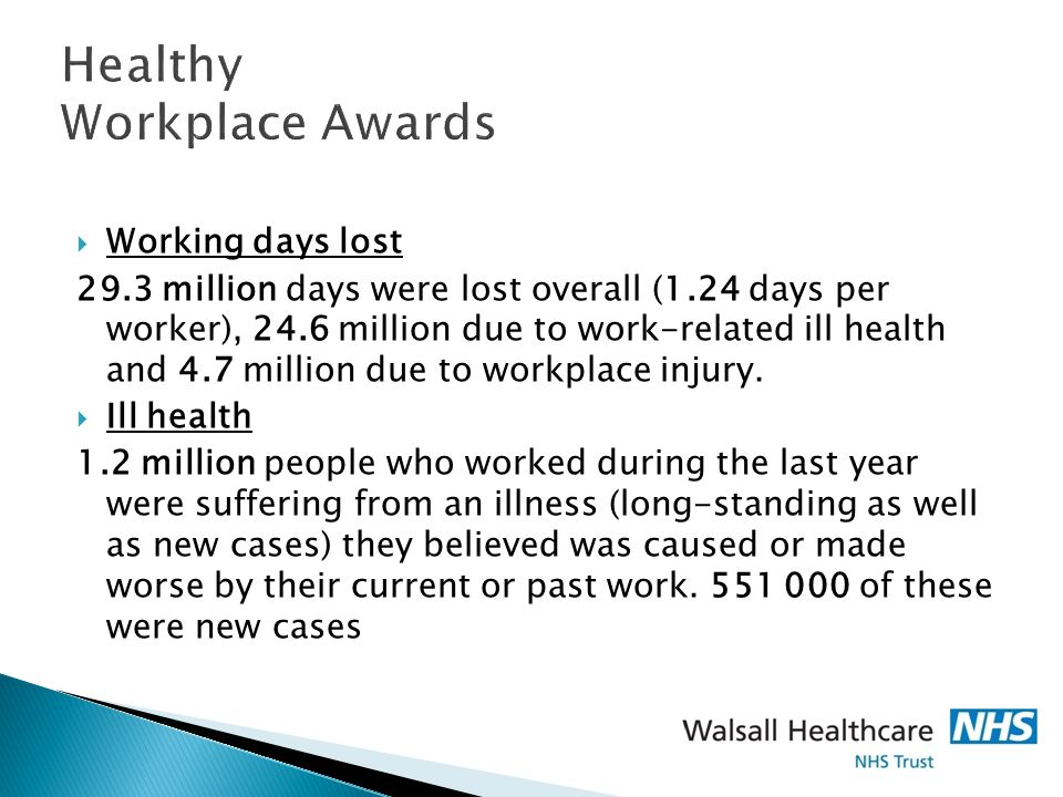 Healthy Workplace Awards