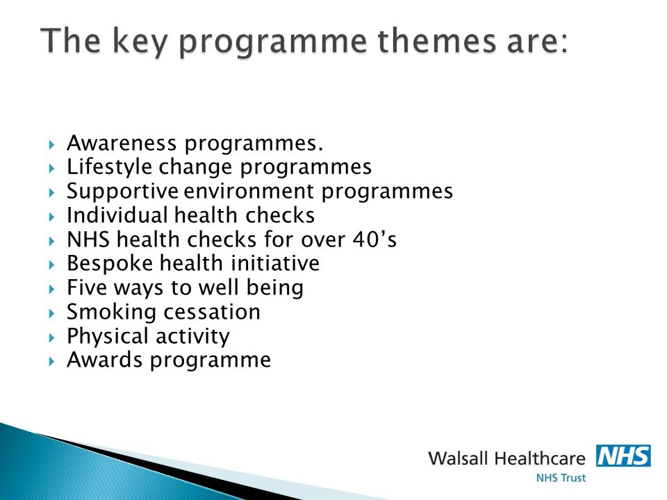 The key programme themes are: