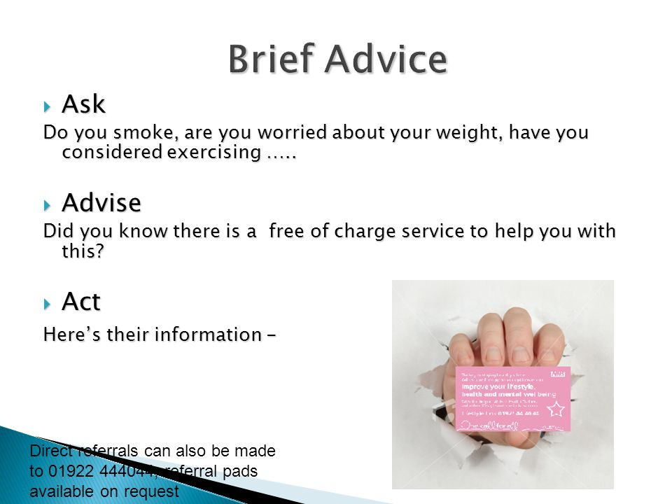 Brief Advice Ask Advise Act