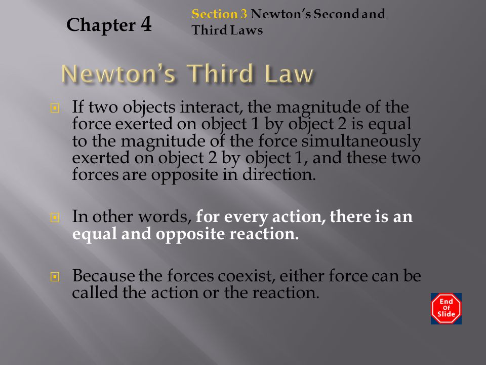 Newton's Third Law Chapter 4