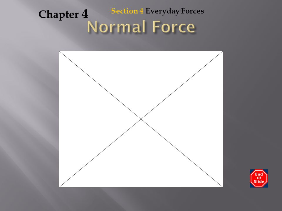 Chapter 4 Section 4 Everyday Forces Normal Force