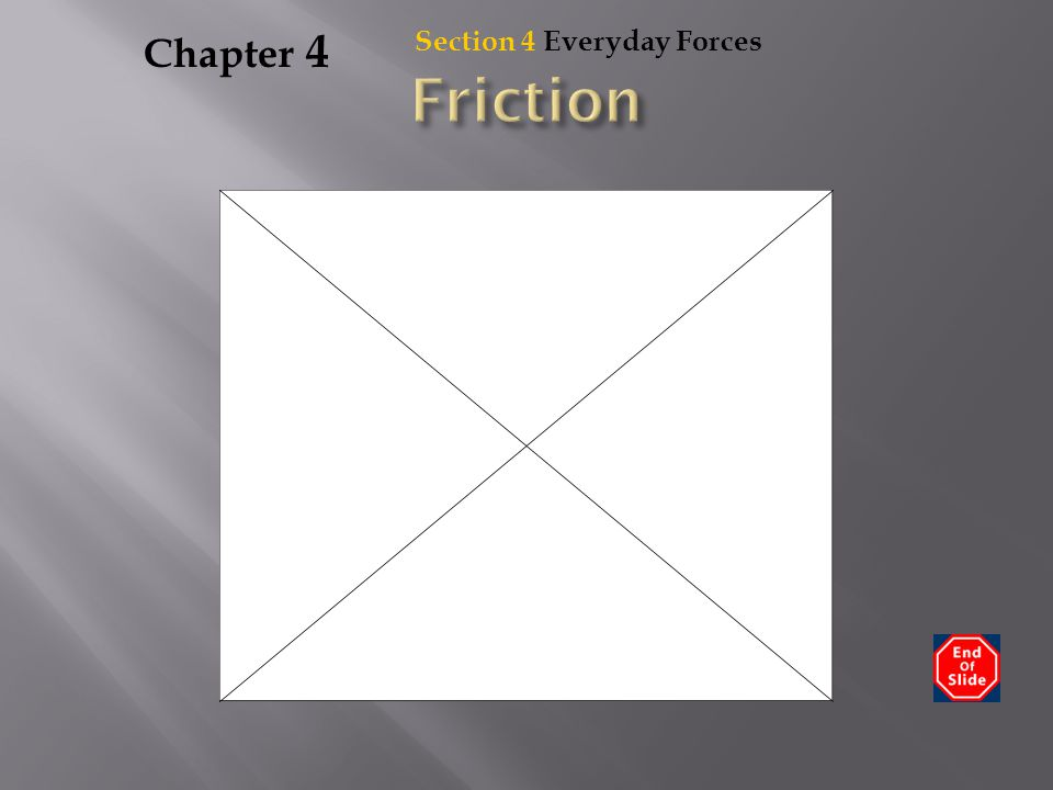 Chapter 4 Section 4 Everyday Forces Friction