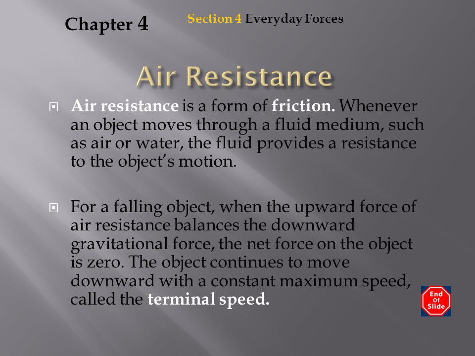Air Resistance Chapter 4