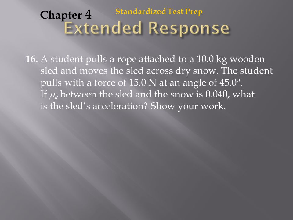 Extended Response Chapter 4