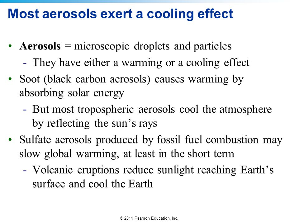 Most aerosols exert a cooling effect