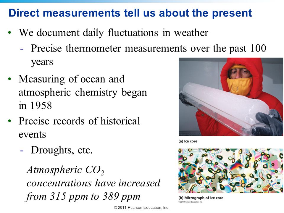 Direct measurements tell us about the present