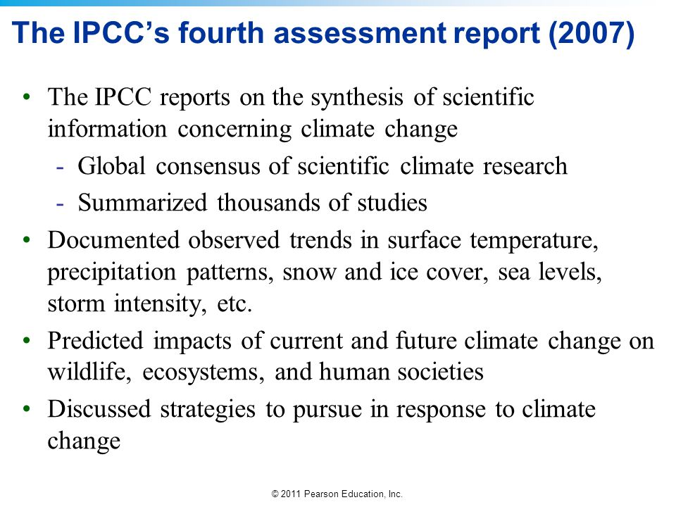 The IPCC's fourth assessment report (2007)