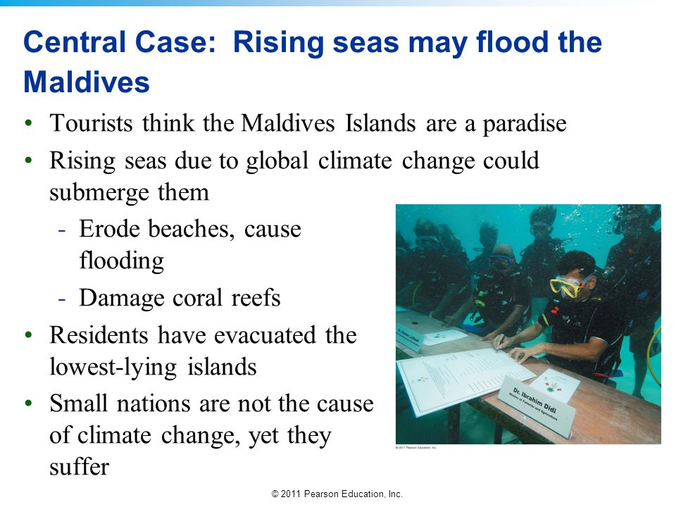 Central Case: Rising seas may flood the Maldives