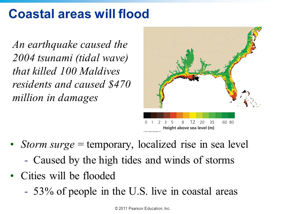 Coastal areas will flood