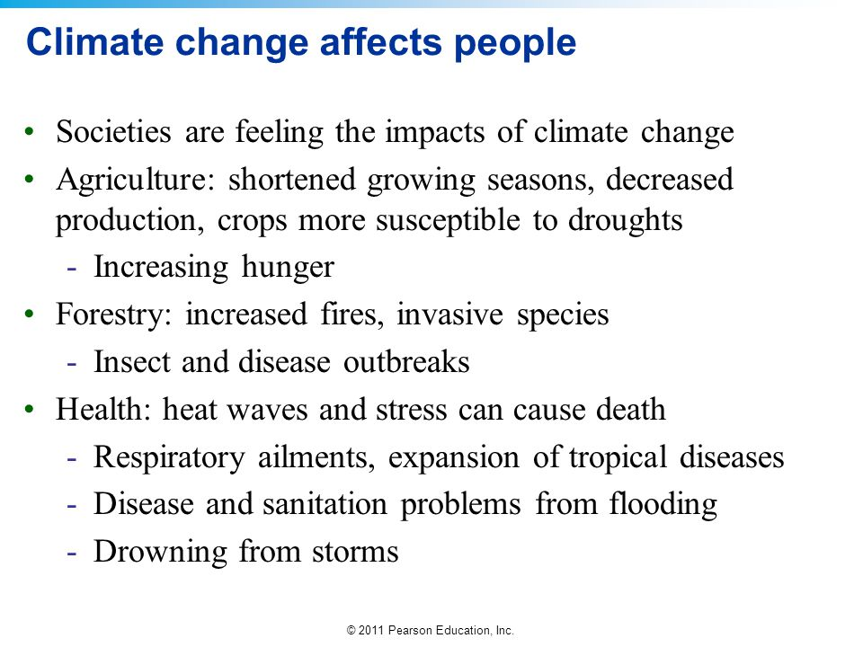 Climate change affects people