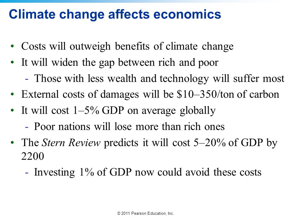 Climate change affects economics