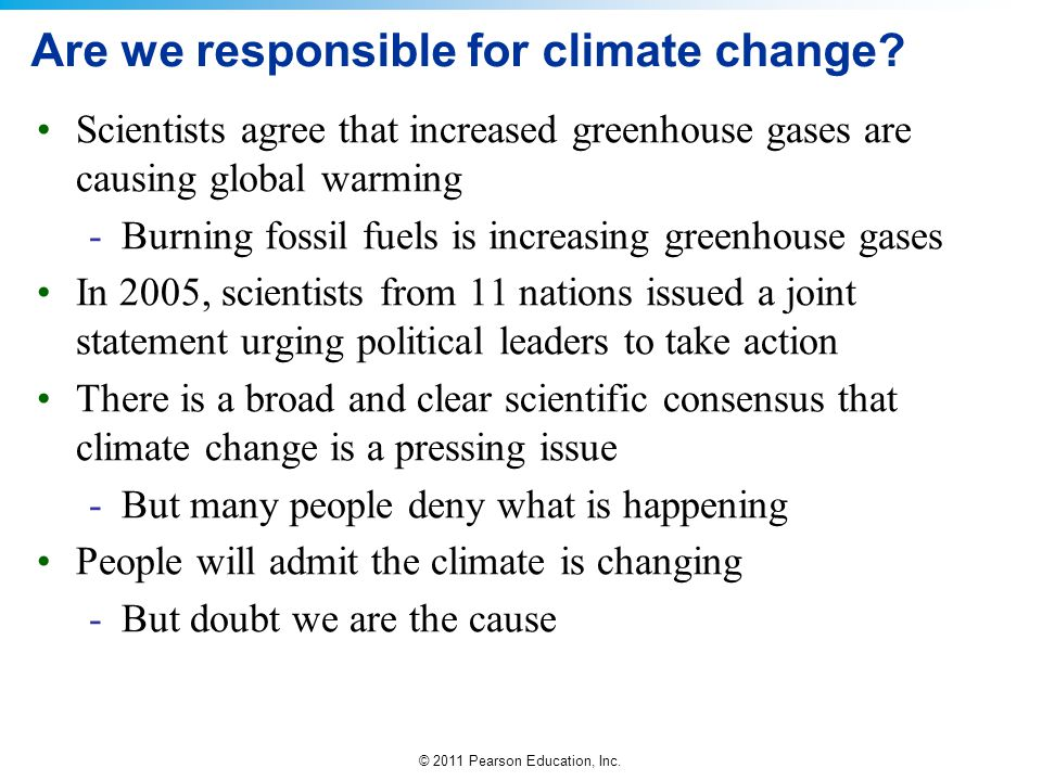 Are we responsible for climate change