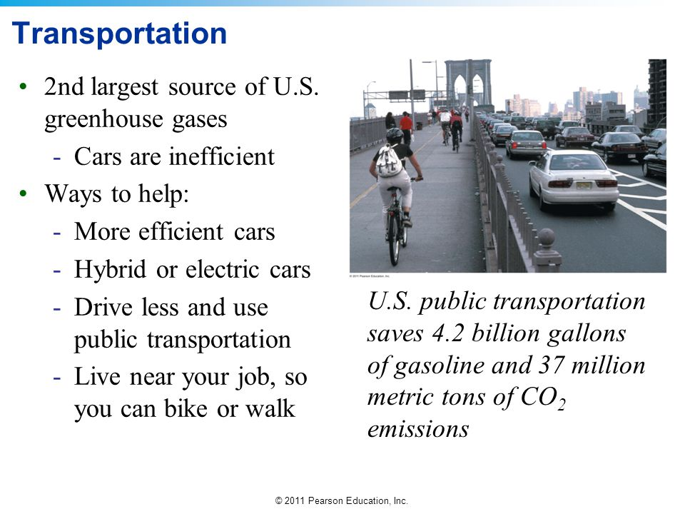 Transportation 2nd largest source of U.S. greenhouse gases