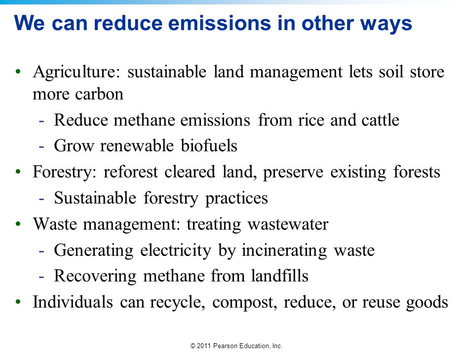 We can reduce emissions in other ways