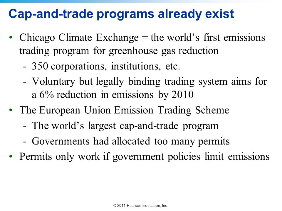 Cap-and-trade programs already exist