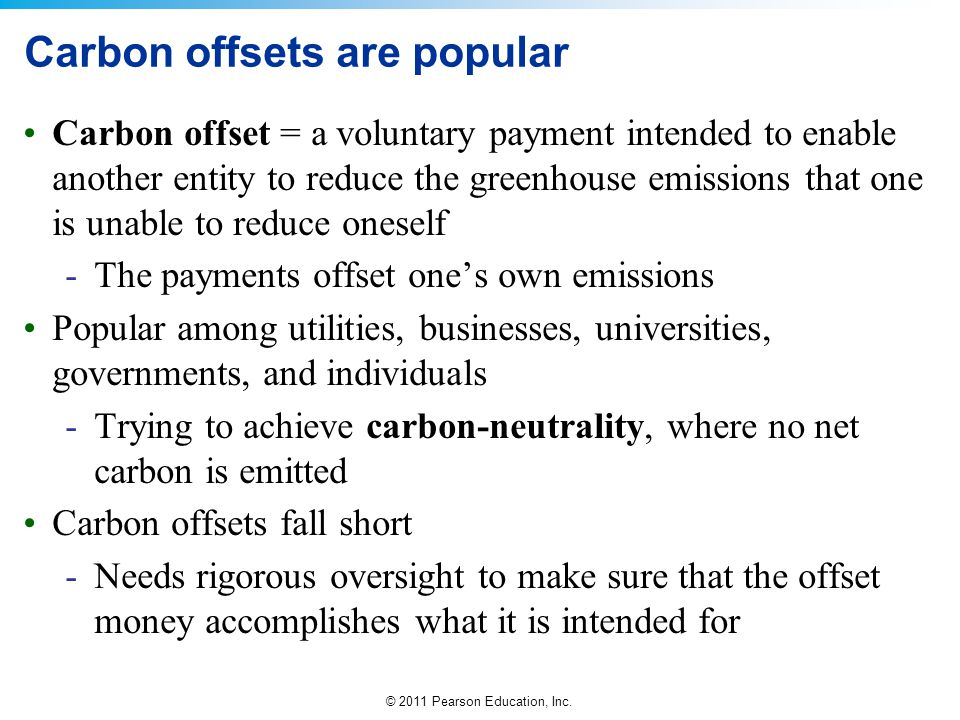 Carbon offsets are popular