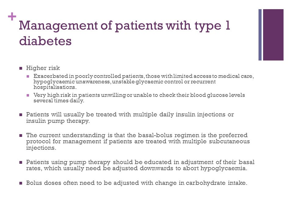 Management of patients with type 1 diabetes