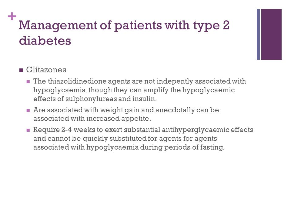 Management of patients with type 2 diabetes