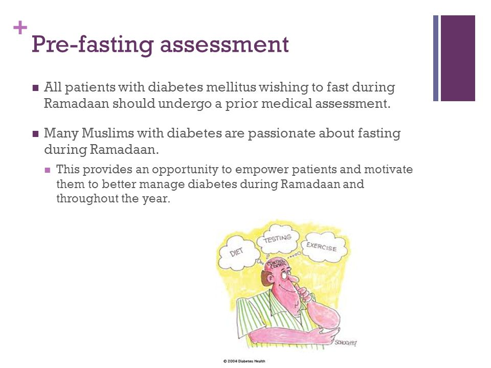Pre-fasting assessment
