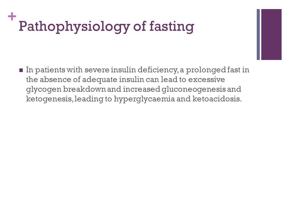 Pathophysiology of fasting