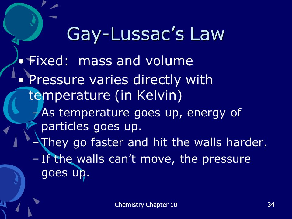 Gay-Lussac's Law Fixed: mass and volume
