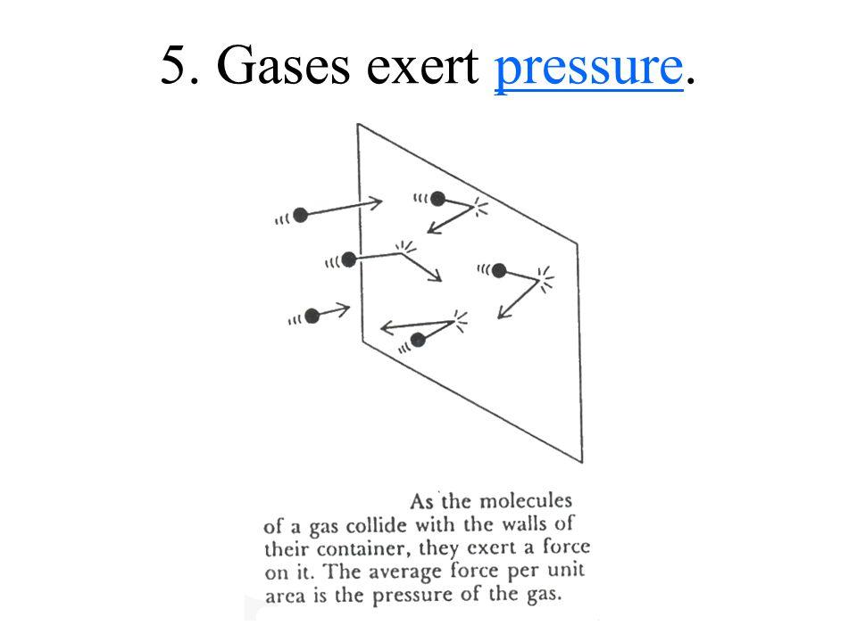 5. Gases exert pressure.