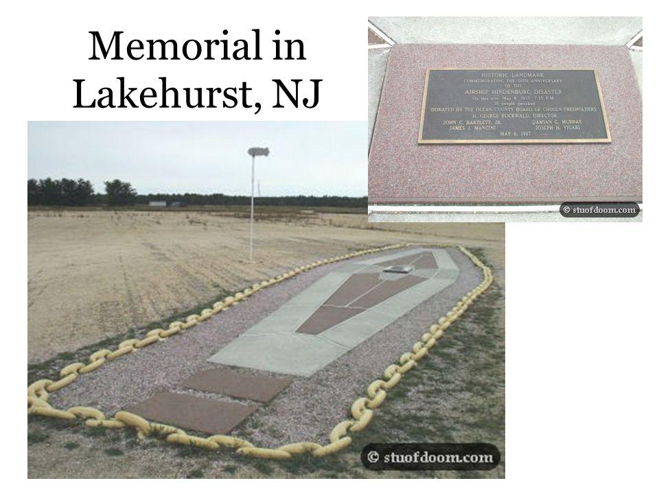 Memorial in Lakehurst, NJ