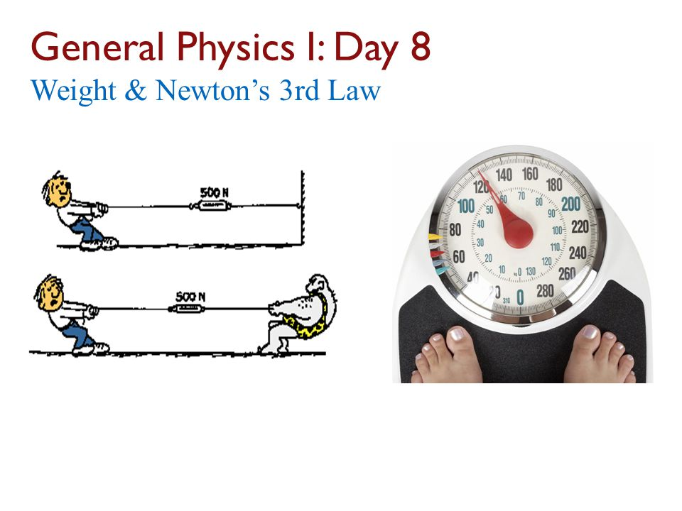 General Physics I: Day 8 Weight & Newton's 3rd Law