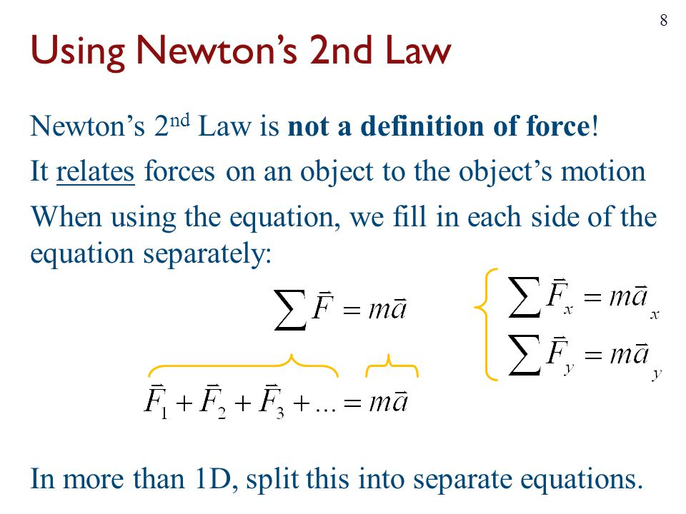 Using Newton's 2nd Law