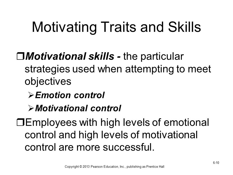 Motivating Traits and Skills