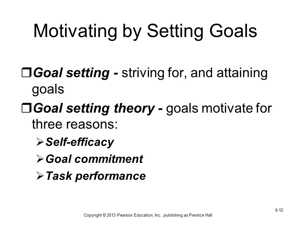 Motivating by Setting Goals