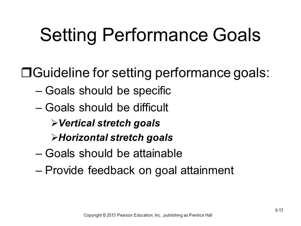Setting Performance Goals