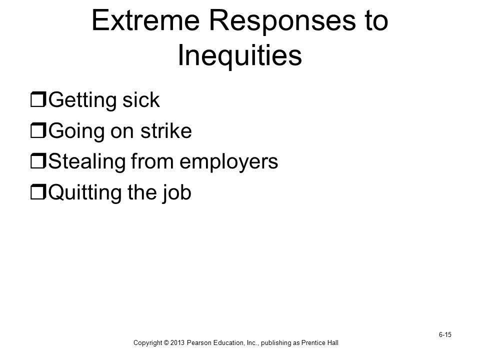 Extreme Responses to Inequities