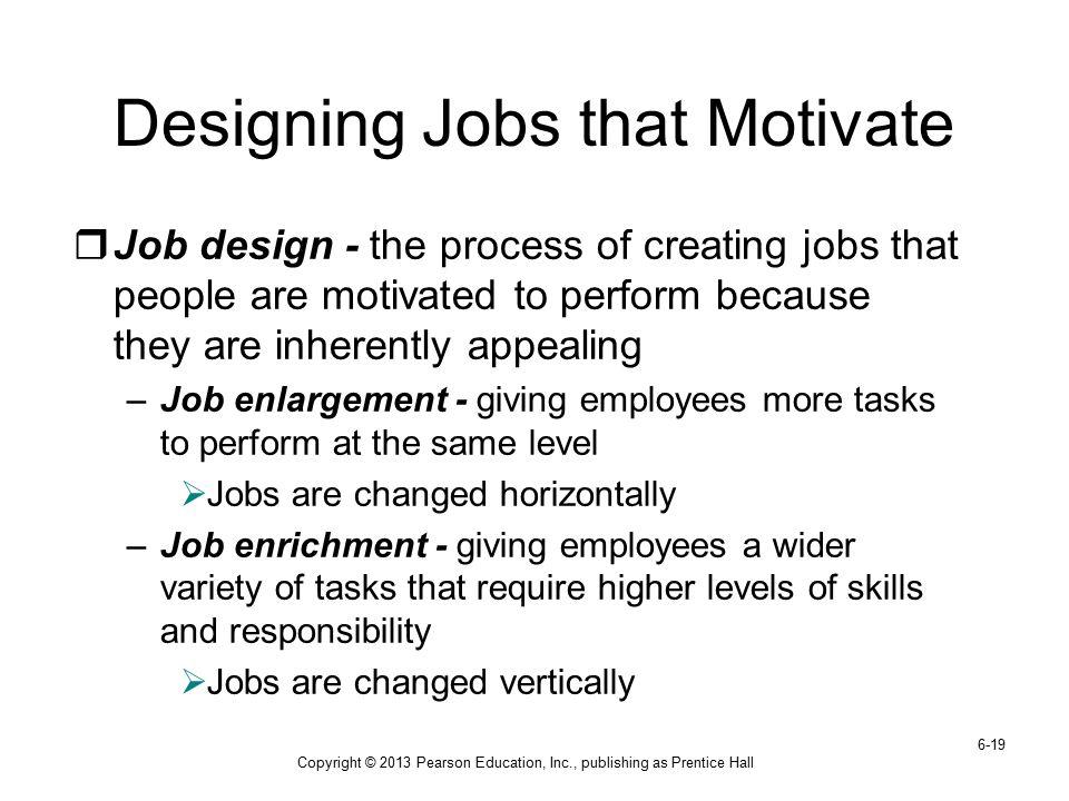Designing Jobs that Motivate