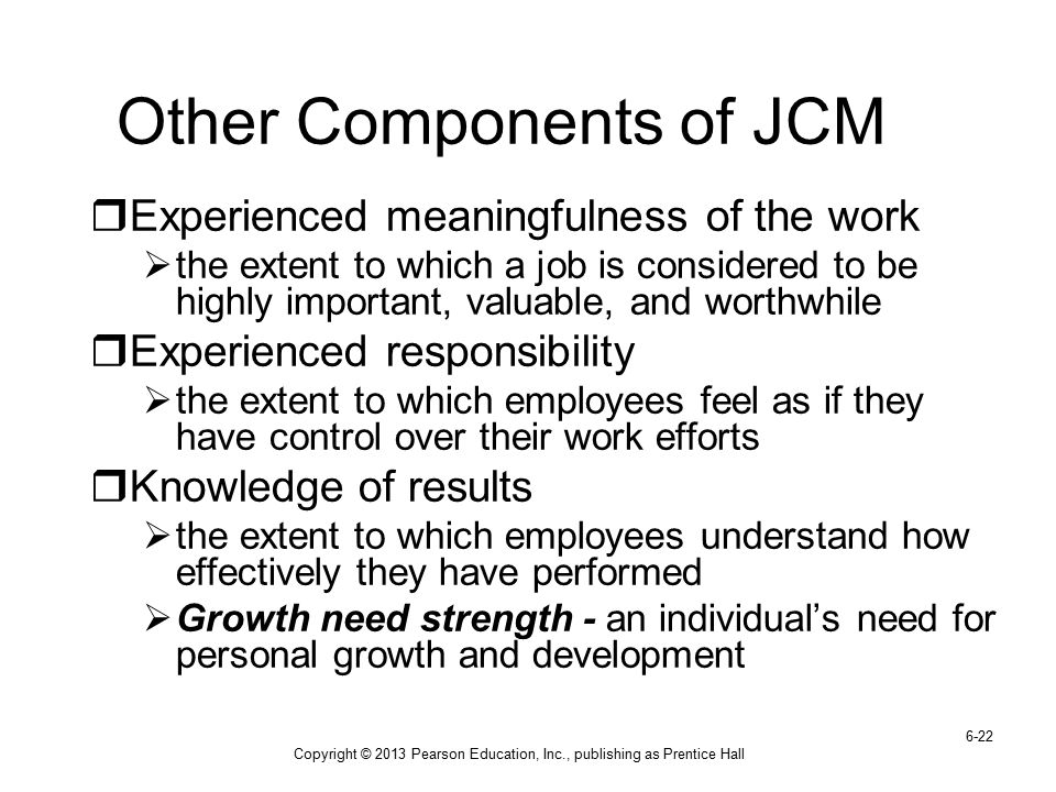 Other Components of JCM